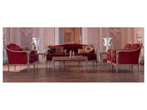 Veronica table basse, Table basse �l�gamment sculpt�e, feuille d'or, pour le salon