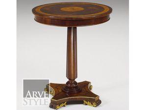 Vienna table d'appoint, Petite table ronde avec plateau incrusté