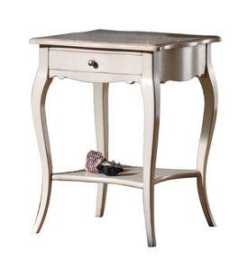 Violette BR.0304.A, Table d'appoint avec tiroir et étagère ci-dessous, style classique
