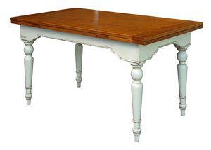 Yvette BR.0111.A, Table en bois extensible, parquet ciré, pour les environnements de style classique