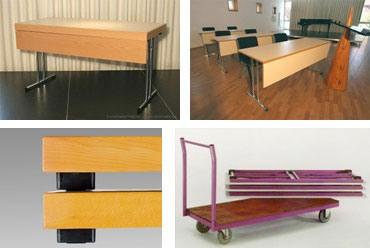 Conference 1875, Table pliante à usages multiples, différentes tailles disponibles