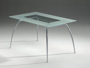 Primera table, Table avec plateau en verre, moderne, résidentiel