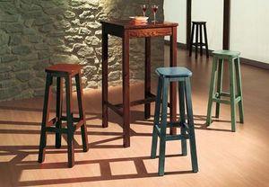 T/060, Rustique haute table en bois pour les bars, gîtes, pubs