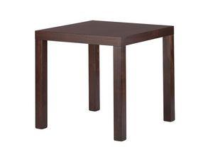 TM02, Table carrée moderne en hêtre, pour les restaurants