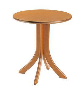 TV04, Table en bois de hêtre, dans un style rustique, pour les chalets