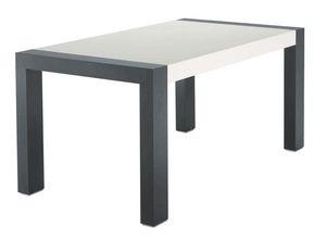 TM06, Table extensible dans les cendres, bicolore laqué