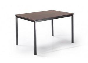 525, Table avec pieds en m�tal et plateau personnalisable