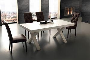Art. 703 Galileo, Table extensible en bois mélaminé, pour cuisine