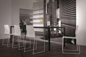 Ernesto Ice Living, Table en métal, personnalisable, pour les salles modernes