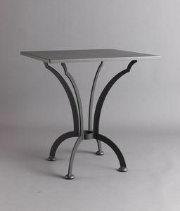 ARCHI GF4013TA-SQ, Table carrée en fer pour l'extérieur