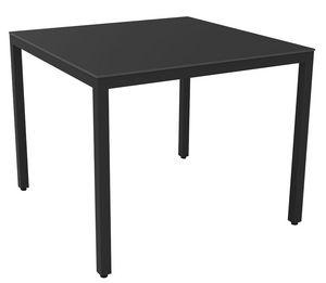 Bea 7070 Compact, Table carrée avec cadre en aluminium idéal pour usage résidentiel et bar
