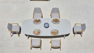 Ellisse table, Table à manger en plein air