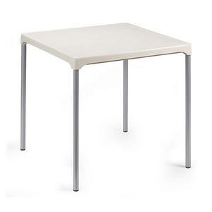 Ermes, Table en aluminium et polypropylène, pour l'extérieur