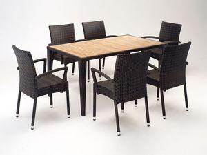 FT 2025.160 - London, Table et chaise avec accoudoirs, différentes couleurs, pour l'extérieur