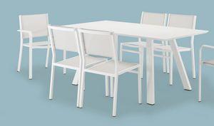 FT 742, Table en aluminium peint, pour les bars et les jardins