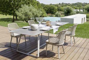 Kolonaki, Table avec base en acier, pour une utilisation en extérieur