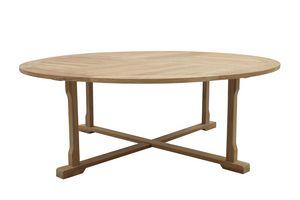 Macao 0439, Énorme table d'extérieur en bois de teck