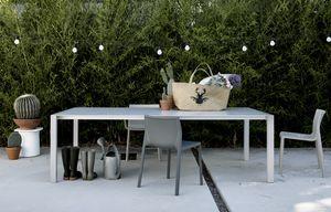 Sushi Outdoor, Table extensible minimaliste, pour jardins et extérieur