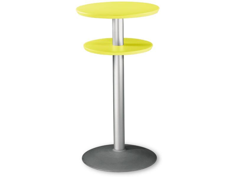 Table Ø 60 h 110 cod. 08/DPBT54, Table haute avec double top en polypropylène