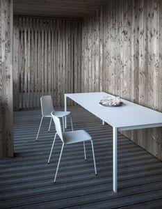 Thin-k Longo Outdoor, Table design avec plateau large et mince, pour extérieur