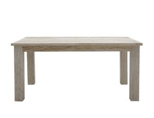 White Sand 6401, Table rectangulaire en teck blanchi