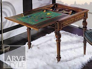 Canaletto Table de jeu, Table de jeu avec haut interchangeable