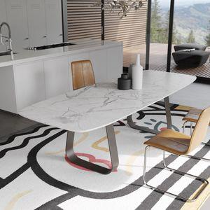 MUN marbre, Table avec plateau en marbre