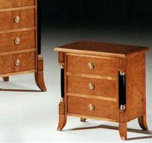 2460 Table de nuit, Table de chevet de style Empire, pour les chambres classiques