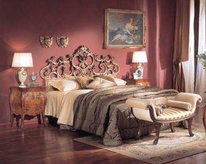 3245 NIGHT TABLE, Luxe classique table de chevet avec 2 tiroirs, des hôtels