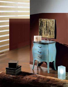 Arcobaleno  table de nuit, Table de chevet en bois laqué