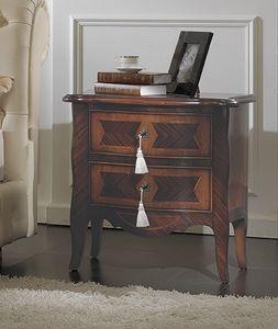 ART. 2709, Table de chevet classique avec 2 tiroirs