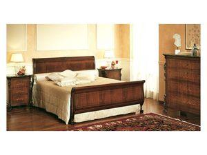 Art. 294 bedside table '800 Siciliano, Chevets en bois, marqueterie avec dessus en marbre, pour chambre