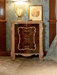 Art. 462, Table de chevet classique, avec pieds sculptés