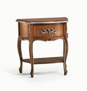 Art. 756, Table de chevet avec jambes sinueuses, pour usage domestique