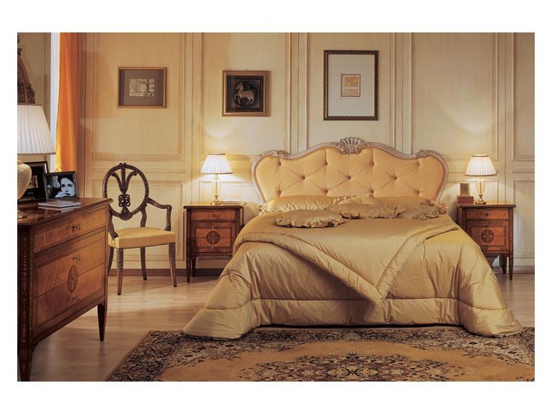 Art. 910 bedside table '700 Italiano Maggiolini, Tables de style classique de chevet, avec des incrustations, pour Hôtels