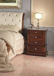 Art. 952/2 bedside, Table de nuit sculpté, marbre de Carrare haut, pour chambre