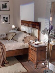 Art. CA722, Table de chevet en bois pour chambre avec un style classique contemporain