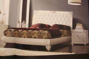 Art. IR094, Laqué blanc table de nuit, pour une chambre dans un style classique
