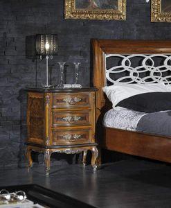 Barocco table de nuit, Table de chevet classique en bruyère