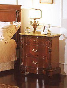 Canova table de chevet, Table de chevet avec tableau jaune réel, des hôtels de luxe