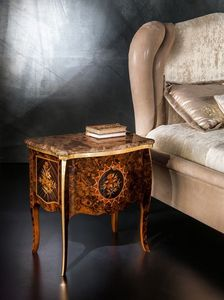 CD27 Metamorfosi table de nuit, Table de chevet avec dessus en marbre