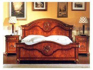 DUCALE DUCCO / Table de chevet, Table de nuit en frêne Burr, style classique