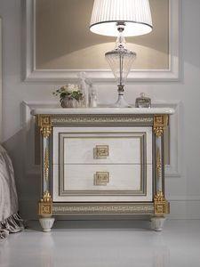 Liberty table de nuit, Table de chevet de luxe en bois, avec un style classique, des hôtels et des chambres de prestige