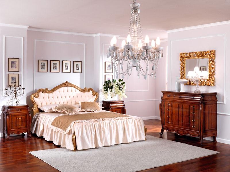 OLIMPIA B / Bedside table, Chevet en bois dans un style classique pour chambre
