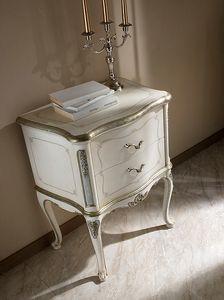 P 701 L, Table de chevet laquée avec décoration style 700