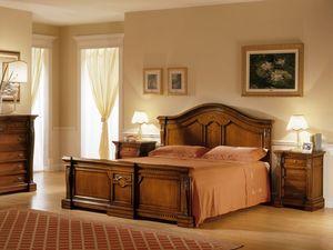 REGINA NOCE / Bedside table, Table de chevet en bois sculpté à la main, pour la Chambre