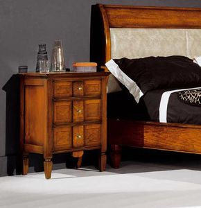 Sinfonia table de nuit noyer, Table de chevet en bois, style classique