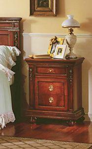Voltaire table de chevet, Table de chevet en bois massif, avec des sculptures, des hôtels