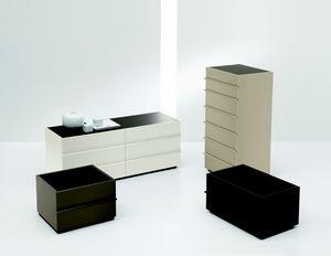 AKI nightstand, Moderne chevet laqué, pour Chambre