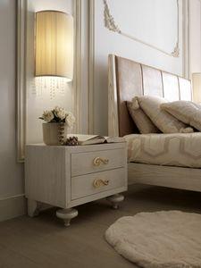 Allegra table de nuit pied d'oignon, Table de chevet avec pieds en forme d'oignon